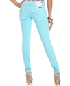 Jeans, Skinny Studded-Pocket, Aqua Blue Wash