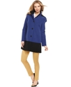 Coat, Hooded Colorblock Raincoat