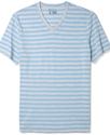 Shirt, Short Sleeve V-Neck Stripe T-Shirt