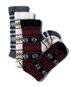 Socks, Cashmere Snowflake Stripe Socks