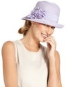 Hat, Cloche with Flower Pin