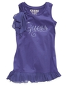 GUESS Kids Top, Girls Sparkle-Logo Chiffon-Trim Ta
