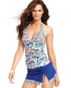 Swimsuit, Halter Printed Tankini Top Women's Swims