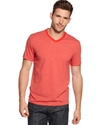 RED Shirt, Slim Fit Heather Stripe V-Neck T-Shirt