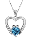 Sterling Silver Necklace, Blue Topaz (1-5/8 ct. t.