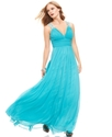 Betsy and Adam Dress, Sleeveless Beaded Pleated Op