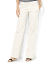 Lauren Jeans Co. Jeans, Wide Leg, White Wash