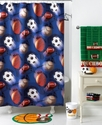 Bath Accessories, Play Ball Shower Curtain