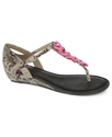 Fergalicious Shoes, Icecap Flat Thong Sandals Wome
