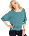 Top, Dolman Sleeve Banded Hem