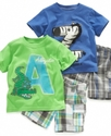 Baby Set, Baby Boys Graphic Tee and Plaid Shorts S