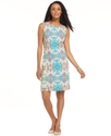 Dress, Sleeveless Printed Sheath