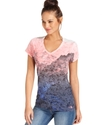Top, Short-Sleeve Tadasana Printed Burnout