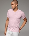 T Shirt, Fashion Slub V Neck Tee