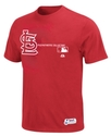 MLB Big and Tall T-Shirt, Authentic St. Louis Card