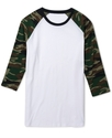 Shirt, Camo Raglan Knit T-Shirt