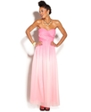 Juniors Dress, Strapless Ombre Gown