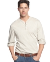 Shirt, Button V-Neck Henley