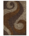 Dalyn Area Rug, Omni Shag VN5 Coffee 3'6   x 5'6