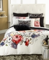 Bedding, Pair of Black Animal Print Quilted Europe