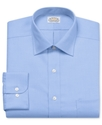 Dress Shirt, No Iron Blue Hawaii Solid Long Sleeve