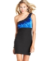 Juniors Dress, One-Shoulder Beaded Bodycon