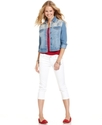 Juniors Jeans, Capri, White Wash