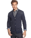 Sons Of Intrigue Sweater, Striped V-Neck Cardigan