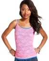 Juniors Top, Spaghetti-Strap All-Lace Tank