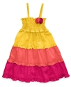 Girls Dress, Little Girls Tiered Swiss Dot Dress