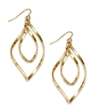 Sequin Earrings, Gold-Tone Double Drop Earrings