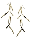 GUESS Earrings, Gold-Tone Twist Drop Earrings