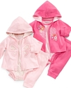 Baby Set, Baby Girls Butterfly/Heart Hoodie, Bodys