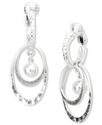 Earrings, Silver-Tone Multi Oval Clip On Earrings