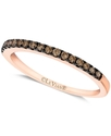 14k Rose Gold Ring, Chocolate Diamond Pave Band (1