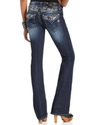 Jeans, Bootcut Dark-Wash Rhinestone