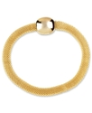 Bracelet, Gold-Tone Textured Mesh Flex Bracelet