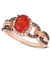 14k Rose Gold Ring, Fire Opal (5/8 ct. t.w.), Diam