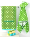 Kids Bath Collection, Froggy Washcloths, Set of Si