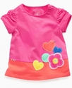Baby Shirt, Baby Girls Flower Border Playwear Top