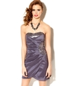 Juniors Dress, Strapless Sequin Tulip-Hem