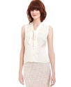 Blouse, Sleeveless V-Neck