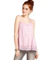 Juniors Top, Sleeveless Eyelet Babydoll