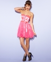 Juniors Dress, Strapless Ruffle A-Line