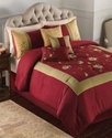Passion Flower 7 Piece Full Embroidered Comforter 
