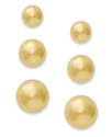 24k Gold Over Sterling Silver Earrings Set, Stud E