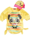 Kids Shirts, Girls Side-Tie Graphic Tees with Truc