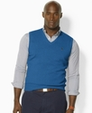 Polo Ralph Lauren Big and Tall Vest, V Neck Sweate