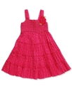 Girls Dress, Little Girls Crochet-Work Polka-Dot S