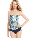 Swimsuit, Bandeau Printed Tankini Top Women's Swim